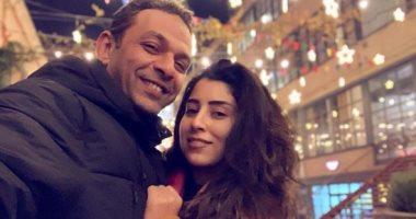"""رسالة حب من آيتن عامر لزوجها.. والجمهور: """"ربنا يخليكم لبعض"""""""