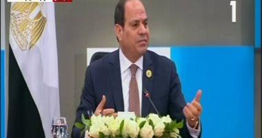 الرئيس السيسى بمنتدى الشباب: المنطقة العربية أصبحت تعانى من تسلسل أزمات
