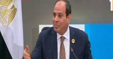 الرئيس السيسى: مصر نجت من مصير صعب بسبب تماسك جيشها ووحدته