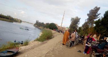 انتشال جثة عامل غرق بعد سقوطه بالتروسيكل بمياه النيل بالقليوبية