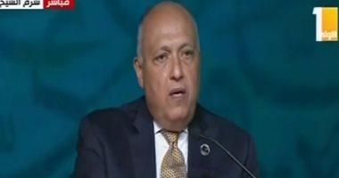 وزير الخارجية: نسعى لإيجاد حلول للصراعات بإفريقيا.. وتفعيل دور القارة لتسوية أزمة ليبيا