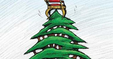 كاريكاتير صحيفة كويتية.. الأوضاع فى لبنان مع إقتراب أعياد راس السنة الميلادية
