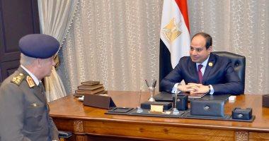 الرئيس السيسي يستقبل الفريق أول محمد زكى وزير الدفاع