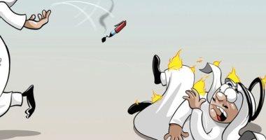 كاريكاتير صحيفة سعودية.. ضرورة مواجهة المحرضين على الشر