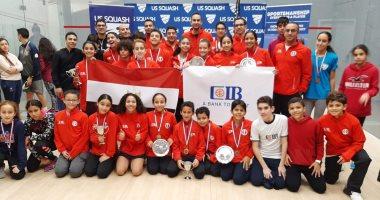 مصر تحصد 17 ميدالية فى بطولة أمريكا المفتوحة لناشئين الإسكواش