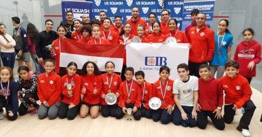 البعثة المصرية لناشئى الاسكواش تعود للقاهرة بعد التتويج بـ17 ميدالية