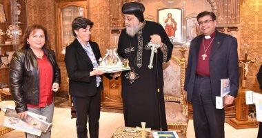 البابا تواضروس يستقبل الأمين العام لمجلس كنائس الشرق الأوسط