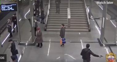 فيديو.. الشرطة الروسية تلقى القبض على شاب أطلق النار فى محطة المترو دون قصد