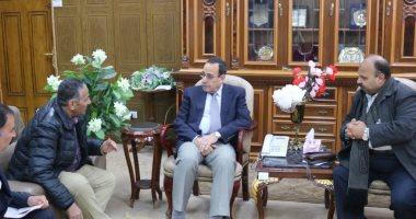 محافظ شمال سيناء يستقبل وفد القوافل التعليمية لرفع المعاناة عن طلاب المدارس