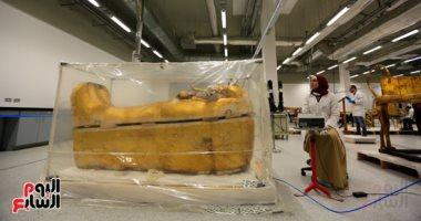 مدير الشئون الأثرية بالمتحف الكبير:تم ترميم مقتنيات توت عنخ آمون على أكمل وجه