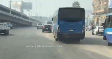 فيديو.. شاهد الحركة المرورية أعلى كوبرى غمرة والتحرير