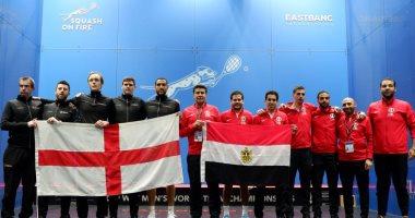 مصر تتوج ببطولة العالم للإسكواش للمرة الثانية على التوالى بعد هزيمة إنجلترا 2/0
