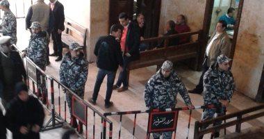"""صور.. استنفار أمنى بمحكمة شبين الكوم قبل جلسة الحكم على قتلة """"شهيد الشهامة"""""""