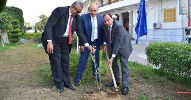 """زراعة 3200 شجرة مثمرة فى إطار مبادرة """"هنجملها"""" بجامعة بنى سويف"""