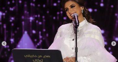 طلى بالأبيض.. أنغام تنشر صور مشاركتها فى حفل الدرعية بموسم الرياض