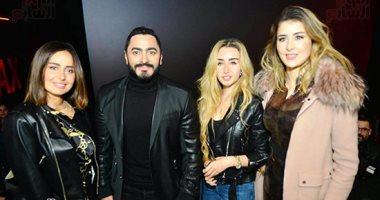 """تامر حسنى وحكيم وحلا شيحة وعائشة بن أحمد وجوهرة يحضرون العرض الخاص لـ""""الفلوس"""""""