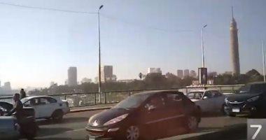 شاهد.. حركة السيارات بكورنيش النيل من شبرا حتى التحرير