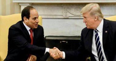 السيسى يبحث مع ترامب هاتفيًا الملف الليبي وتطورات سد النهضة