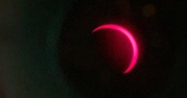 """وكالة الإمارات للفضاء تنشر صور الكسوف الشمسى """"حلقة النار"""""""