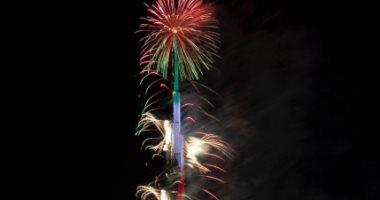 برج خليفة وبرواز دبى.. شاهد احتفالات الإمارات بالعام الجديد