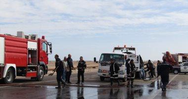 مصرع وإصابة 8 مواطنين فى حوادث تصادم على الطريق الصحراوى بإسنا جنوب الأقصر
