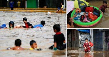 إندونيسيا تواجه أعنف موجة طقس منذ 2013.. فيضانات وعواصف وهزات أرضية تودى بحياة 23 شخصا.. تشريد أكثر من 30 ألف مواطن إندونيسى.. ووكالة إدارة الكوارث المحلية: جارى البحث عن مفقودين