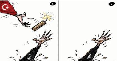 """كاريكاتير صحيفة سعودية.. تركيا """"تمثل"""" بمساعد ليبيا لغزوها"""