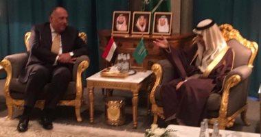 لقاء بين سامح شكرى وفيصل بن فرحان بالرياض لبحث التعاون المشترك