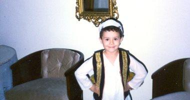 شوف صورة النجم رامى يوسف الحاصل على جولدن جلوب وهو طفل