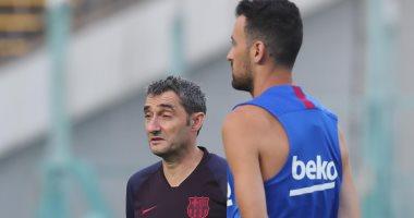 برشلونة ضد أتلتيكو مدريد.. موقف طريف يتسبب فى تأجيل مؤتمر فالفيردى