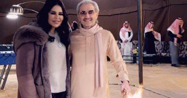 تفاصيل لقاء الأمير الوليد بن طلال والفنانة أحلام