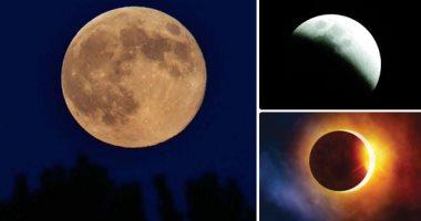 القمر الوردى العملاق الوردى يظهر بسماء الليل يوم 7 إبريل الجارى