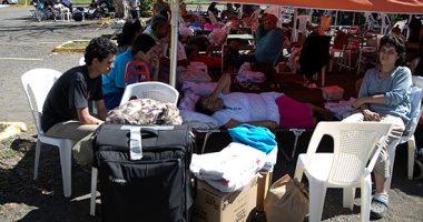 سكان جزيرة بورتوريكو يتركون منازلهم ويعيشون فى مخيمات الإيواء بعد زلزال شديد