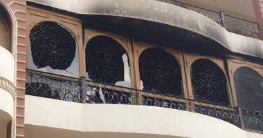 شاهد.. فيلا الفنان إيهاب توفيق بعد أيام من حريقها ووفاة والده