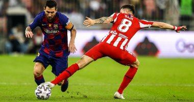 برشلونة ضد اتلتيكو مدريد.. ميسي يرد سريعا بقذيفة فى شباك أوبلاك.. فيديو