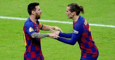 برشلونة ضد اتلتيكو مدريد.. جريزمان يضيف ثانى أهداف البارسا والفار يلغى هدفا لميسي
