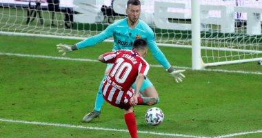 برشلونة ضد أتلتيكو مدريد.. كوريا يقتل البارسا بالهدف الثالث فى الدقيقة 86