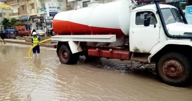 محافظ كفر الشيخ يتابع رفع تراكمات المياه عقب استمرار هطول الأمطار