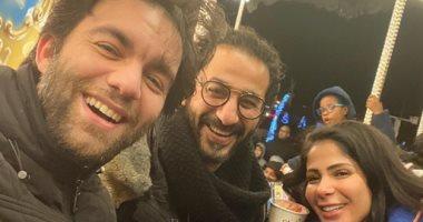 أحمد حلمى ومنى زكى وتامر حبيب وبشرى مع بعض فى مكان واحد.. اعرف فين؟