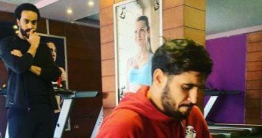 فيديو.. عبد الله جمعة يخضع للتأهيل خارج الزمالك بعد إصابة السمانة