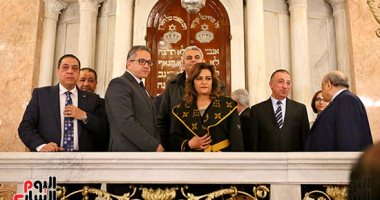 """فيديو.. لميس الحديدى تسلط الضوء على ترميم المعبد اليهودى بالإسكندرية بـ""""القاهرة الآن"""""""