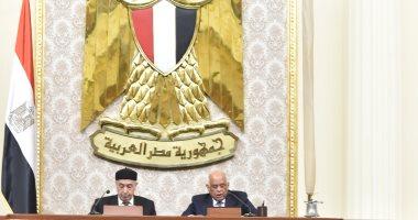 الجلسة العامة للبرلمان المصرى بحضور رئيس مجلس النواب الليبى عقيلة صالح