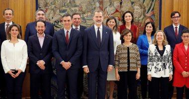وزراء الحكومة الإسبانية يؤدون اليمين الدستورى أمام الملك فيليب السادس