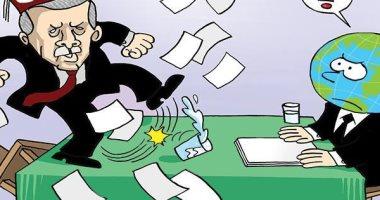 كاريكاتير صحيفة إماراتية.. أردوغان مرتبكا ولا يفعل غير إثارة الفوضى