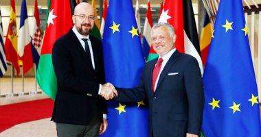 عاهل الأردن يلتقى رئيس المجلس الأوروبى فى بروكسل