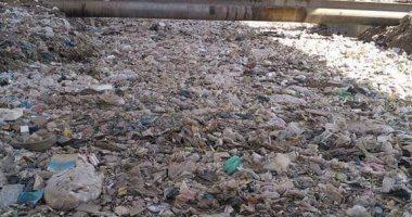 """""""سيبها علينا"""".. صورة للقمامة تغطى ترعة المريوطية بالجيزة"""