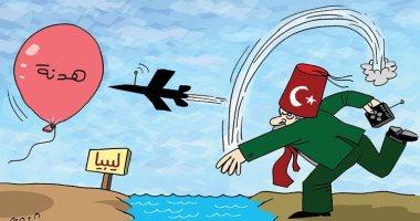 كاريكاتير صحيفة إماراتية.. أردوغان يكشف وجهه الاستعمارى ضد ليبيا
