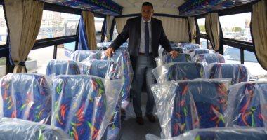 صور.. أتوبيسات نقل مميز جديدة ومكيفة لتشغيلها فى مدينة المنصورة