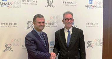 أول صور لتوقيع عقد إدارة ماريوت العالمية لفندق الماسة بالعاصمة الإدارية