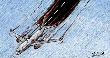 كاريكاتير صحيفة كويتية.. الطائرة الأوكرانية تثير غضب الشارع الإيرانى